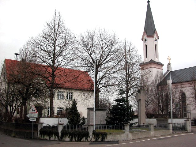 Wolfersdorf Dorfmitte Winter